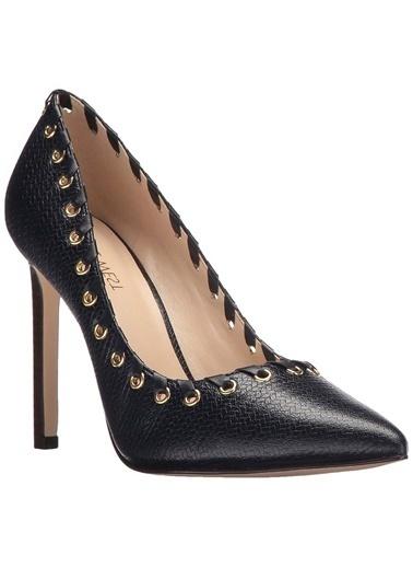 Nine West İnce Topuklu Deri Ayakkabı Lacivert